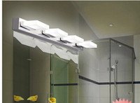 Wholesale 3 Lights Modern Stainless Steel LED Mirror Lamp Water Proof Anti fog Toilet Bathroom Lights Vanity Mirror Light Lighting Lights