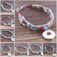 asian fit glasses - Free DHL Styles Noosa Bracelets Crystal Glass European Charm Beads Fit mm Ginger Snaps Button Jewelry K8E