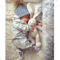 b boy hats - Fashion Children Kids Winter Fur Hat Girls Boys Fur pom poms Ball Baby Beanies Cap Kids Crochet Knitted Hats M344 B