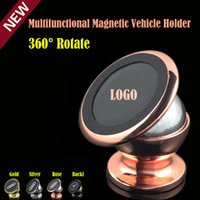 Wholesale 360 Degree Rotating Multifunctional Magnetic Car Holder Stent Strong Magnet Badge Vehicle mounted Mobile Pad Navigator Scaffold Fixator