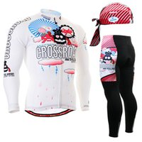 Wholesale Life on Track Bicycle Cycling Jersey pants Long Sleeve Cycling sets bike Jersey sets For men mountain bike Jerseys padded pants