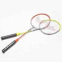 Wholesale Aluminum Carbon Badminton Rackets Best Quality Sport Dexterous for Women Durable Ferroalloy One piece Badminton Rackets for Lovers HK