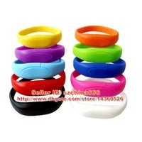 Wholesale Silicone Wristband USB Flash Memory Stick Pen Drives Bracelet USB Stick GB GB GB