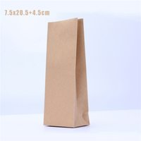 alu paper - Biodegradable x20 cm Alu Flat Bottom Kraft Paper Pouches for Tea Food Grade Kraft Tea Packaging