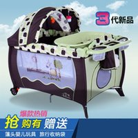 american baby crib - 2016 new style Color Multi function American style baby cot portable folding crib playbed crib baby playing bed