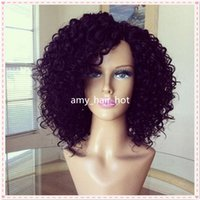 big brown pic - Afro Kinky Curly Short human hair bob wig For Black Women Exactly Like the Pics Best GulessFull Lace Wigs Cheap LaceFront Wig