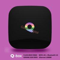 all'ingrosso televisions-Android5.1 scatola astuta della TV scatole Qbox IPTV 4K KODI16.0 Amlogic A53 S905 2GB / / Bluetooth Q-box da 8 GB WIFI per la televisione in streaming