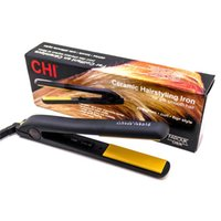 aluminum battery boxes - 2016 Best sell brand hair straighter BLACK Ceramic Hairstyling Flat Iron with Retail Box hair straighter curler hair straightener from janet