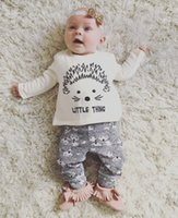 baby s clothes - Ins Hot Selling Infant Baby Clothes Sets Baby Hedgehog Print Spring Autumn Long Sleeve T shirt With Matching Pants Two Piece Sets