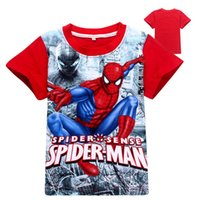 baby t shirt men - Latest design boys T shirt spider man cartoon baby boy cotton tops children tshirt kids casual clothing colors