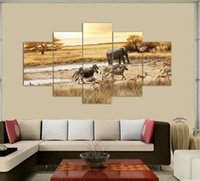 african grassland animals - African grassland Painting Canvas Wall Art Picture Home Decoration Living Room Canvas Print Modern Painting on Canvas F