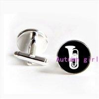 band trombone - J tuba cufflinks custom musical instrument cuff links trombone cuff links music band cufflink symphony cufflinks Musicians Cufflink