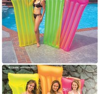 beach inflation - Summer Beach Swimming Children Kids Toys Floating Bed Inflation Floating Boat Funny Toys PVC Colorful Baby Toys