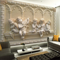 Wholesale Custom d mural wallpaper European style D stereoscopic relief jade living room TV backdrop bedroom d photo wallpaper