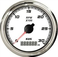 Wholesale 1pc High Quality Tachometer Revolution Meter RPM V With Backlight For Boat Automobile Motor Homes White