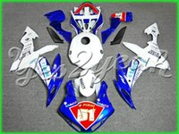 Wholesale White blue Fairing kit for YAMAHA YZFR1 YZF R1 YZF1000 yzfr1 Injection mold Fairings Set