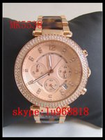 best tortoise - TOP QUALITY BEST PRICE Drop Ship Ladies Chronograph Tortoise RoseGold tone Stainless Crystal MK5538 MK5491 MK5354 MK5353 MK5774