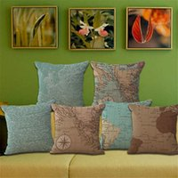 Wholesale New Pillow Cover Decorate Vintage Mediterranean Capa Almofada Marine style Throw Pillows Gifts Pillow Case
