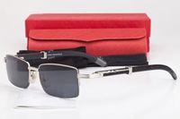 bamboo planks - With Red Original Box Fashion Wood Sunglasses Brand Designer Half Rim Glasses Women Gold Wooden Bamboo Glasses Frames lunettes