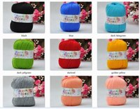Wholesale 4 gSkeins Soft Cashmere Silk Wool baby Knitting yarn Sock g white pink blue green more color omber color can be choosed