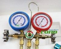 automotive hvac systems - Manifold Gauge Set R12 R22 R134A R502 A C Diagnostic HVAC AC Refrigeration Test valves and hoses