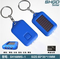 Wholesale Multi color Solar Power led keychain flashlights Colorful Mini Rechargable LED Flashlights Emergency Use For Camping Hiking
