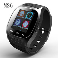 android music - Waterproof Smartwatches M26 Bluetooth Smart Watch With LED Alitmeter Music Player Pedometer For Apple IOS Android Smart Phone Epacket