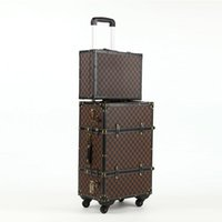 Wholesale Fashion Retro Rolling Luggage Spinner Inch Boarding Box Inch Travel Bag Suitcase Card Luggage Set