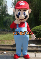 Wholesale Cute Popular Brand New Super Mario Cartoon Mascot Costume Adult Halloween Party Outfits Fancy Dress