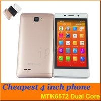 """Android Dual Core 256MB Mate S Cheapest 4"""" Dual Core MTK6572 Dual Sim Android 4.4 Smart Phone Unlocked Wifi GPS 256M 2GB G-Sensor gesture colors mobile + case 20"""