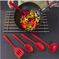 Wholesale 2016 New Silicone Kitchen Baking pieces Set Heat Resistant Cooking Utensils Spatula Spoon Ladle FDA Approved