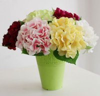 Wholesale Amazing Value Single Hydrangea Artificial Flower Silk Fake Flower Colourful for Christmas Wedding Party Home Decoration