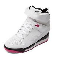 Wholesale Wmns white black peach air revolution sky hi casual shoes women bronze dark citron height increasing shoes jogging shoes ankle boots black