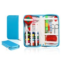 Wholesale Portable Sewing Kit Box Household Needle Thread Scissors Ring Kit Fabrics and Sewing Tools Set set