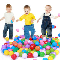 Wholesale 100 Bath Toy Baby Ball Pit Balls Plastic Ocean Ball Swim Pool Ball Toy Colorful Soft Plastic Kid Pit Safe Bath Toys