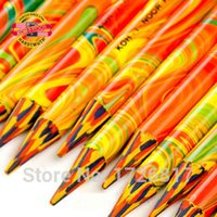 Wholesale 3 Unique Rainbow Color Pencil in Colored Pencils For Drawing Stationery Office Material School Supplies