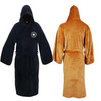 bathrobe for man - Star Wars Darth Vader Terry Jedi Bathrobe for Men and women Robe Brown Black Cosplay Costume