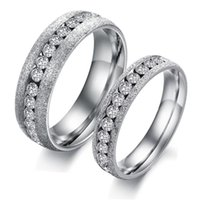 Wholesale Fashion Couples Rings Wedding Jewelry Accessories Silver Engagement Rings Stainless Steel Jewelry for Women Men