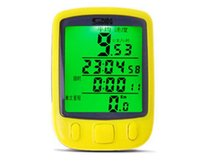 backlit lcd display - Factory Direct Black Yellow Blue Multifunctional Waterproof LCD Display Cycling Green Backlit Odometer Bike Computers Speedometer