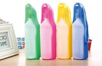 Wholesale 500ML Hot Portable Pet Cat Dog Feeding Bottle Water Drinking Outdoor Travelling Muticolor hanging supplies soft mouth bottles