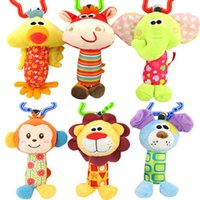 baby bedding ducks - Kid Baby Toys Rattle Tinkle Hand Bell Multifunctional Plush Stroller Cute Animal Duck Dog Fawn Elephant Educational Pram Bed Toy WX T30