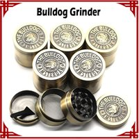 Wholesale sp Hot Selling Bulldog Grinders Herb Grinders mm Layers Metal Grinders Zinc Alloy Tabacco Grinder VS Sharpstone Lighting Grinders