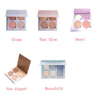 Wholesale 2016 New Branded Ana Glow Kit Makeup Face Blush Powder Blusher Palette Cosmetic Blushes Shades Gleam That Glow Sun Dipped Moonchild Sweet