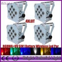 battery powered led uplights - lights RGBWA UV W IN Led battery powered wireless dmx led flat par light led par can uplights