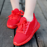 Wholesale 2017 New Red Running Shoes For Kids Hot Sale Children Athletic Shoes Rubber Bottom Kids Casual Running Shoes Popcorn Shoes