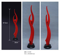 Wholesale Red color flame shape Sculpture gold eyes resin crafts modern house decor famous sculpture in europe parlor decoratio
