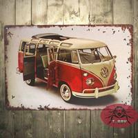Wholesale Volkswagen Kombi NEW Enamel Metal Sign Car Gift Split Screen Camper V Dub Air B