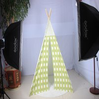 Wholesale Green Grid Indian tent