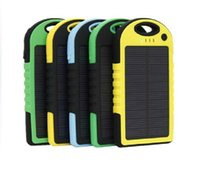 Wholesale NEW mAh universal USB Port Solar Power Bank Charger External Backup Battery For iPhone iPad Samsung charger With retail package