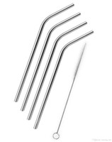 Wholesale Sip Drink - HOT YETI 30OZ 20OZ Yeti Cups Stainless Steel Drinking Straws bent straight straws Sip Well Yeti Rambler Tumbler Straw Brush